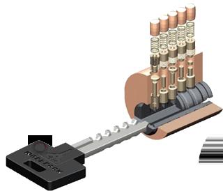 Цилиндрический ключевой замок